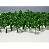【Good in three directions】4㎝ 100本 セット もふもふ 大森林 ジオラマ 模型 用 樹 木 ジオラマ 鉄道模型 などにどうぞ 4センチ 100本セット