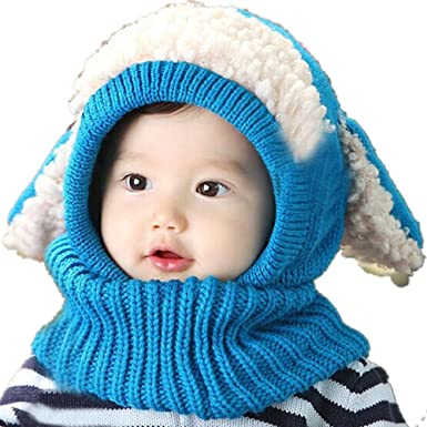 Toddler Kids Girl Boy Baby Winter Warm Hat Scarf Beanie Knit SKull Cover Cap USA