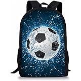 a2226cb19ffe Coloranimal 3D Football Printing Children School Backpacks Boys Blue  Bookbags