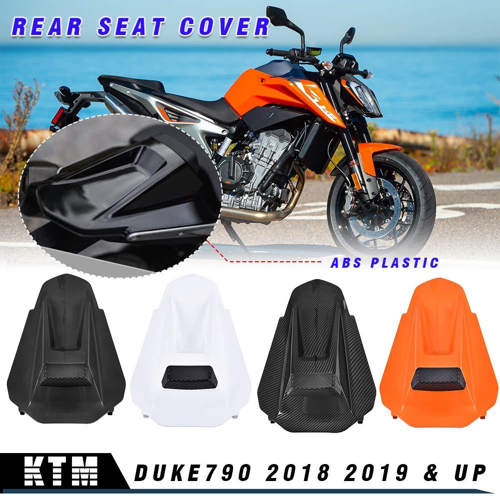 LoraBaber Motocicleta Duke790 Cubierta de carenado del asiento del pasajero trasero de pl/ástico Cubierta de la capucha para Duke 790 Accesorios Aspecto de fibra de carbono