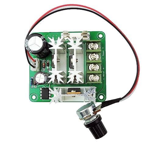 uniquegoods 6v 12v 36v 60v 90vdc 15a(max) pwm dc motor speed controller  adjustable speed governor pump speed controller ccmhcn - - amazon com
