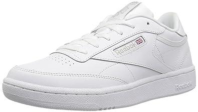Girls Reebok Club C Classics Shoes White Sheer Grey