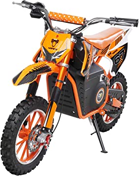 Actionbikes Motors Mini Kinder Crossbike Viper 1000 Watt 36 Volt Wave Scheibenbremsen 3 Geschwindigkeitsstufen Pocket Bike Motorrad Motocross Dirtbike Enduro Viper 1000 Watt Orange Auto
