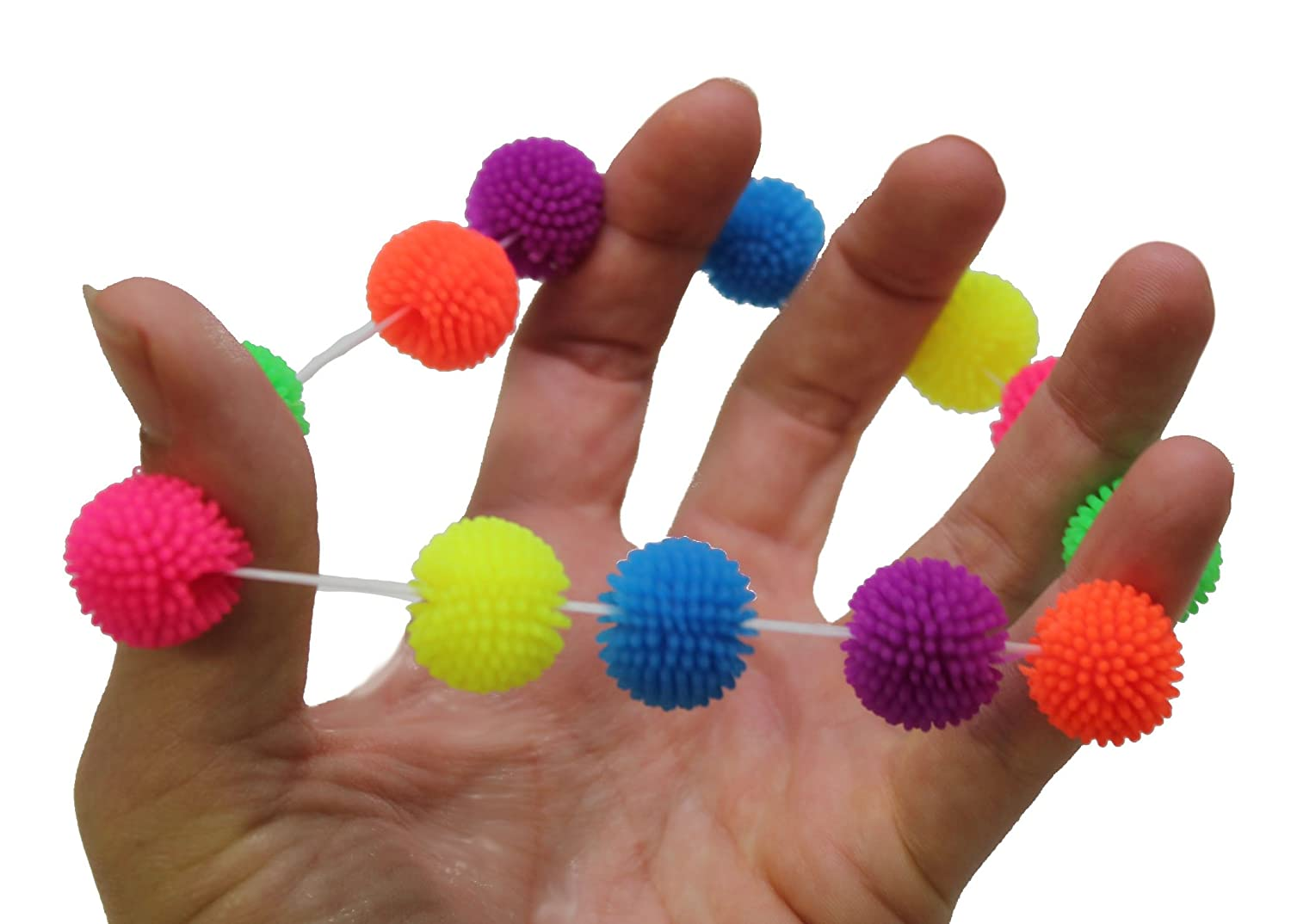 Curious Minds Busy Bags Mini Pom Puffer Hedge Ball Fidget Bracelet Sensory Fidget Toy for Students Adults and Children Office Calming Toy