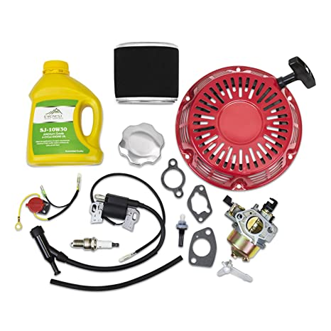 Amazon.com: Everest Kit for Honda GX340 GX390 Recoil Carburetor Ignition Coil Spark Plug Air Filter: Garden & Outdoor