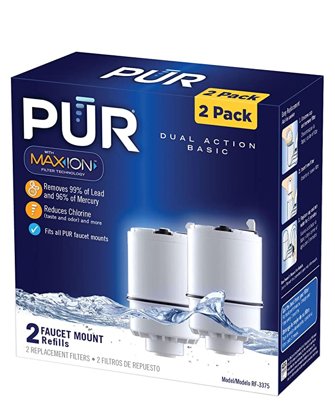 PUR Faucet Mount Replacement Water Filter - Basic 2 Pack - Pitcher ...