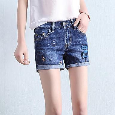 Jidfupte New Summer Casual Mid Waist Denim Shorts Women Fashion