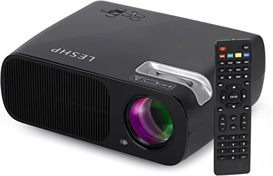 LESHP Mini Proyector LED 1080p HD HDMI / VGA / USB / AV / TV Home Cinema (3200 Lumens, Negro): Amazon.es: Electrónica