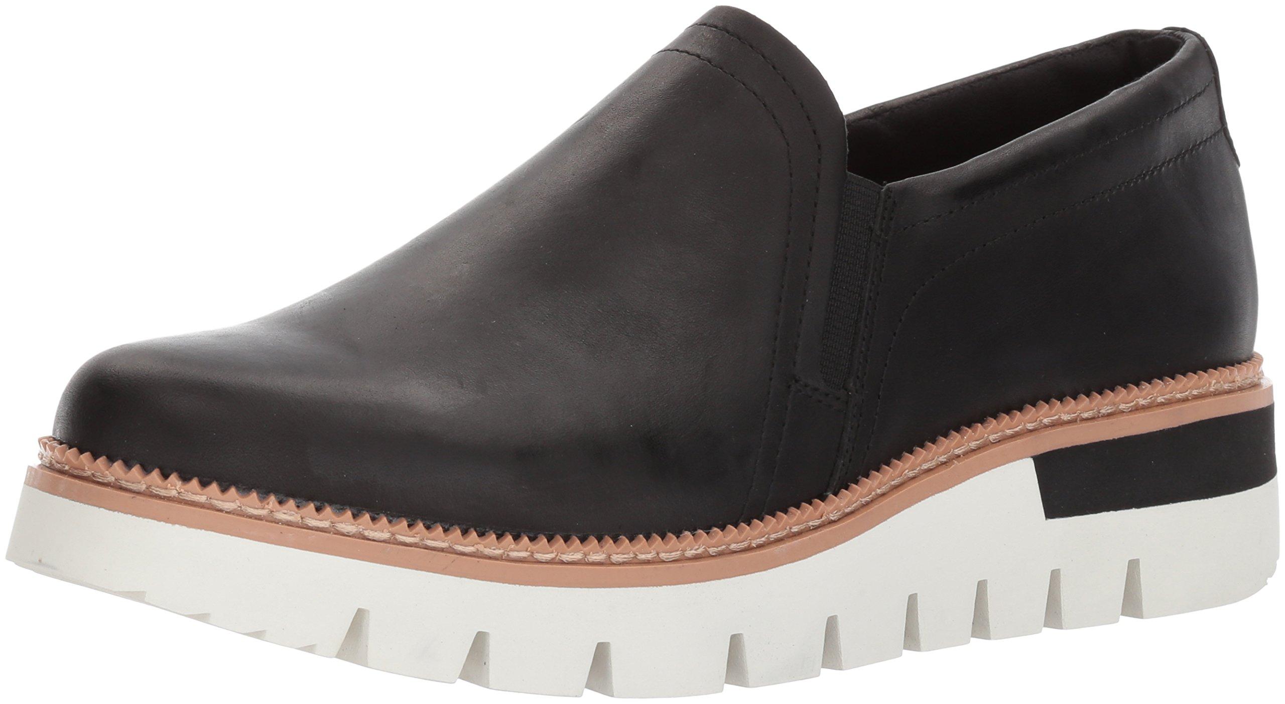 Caterpillar Women's Parody Leather Slip On Shoe Loafer, Black, 11 Medium US
