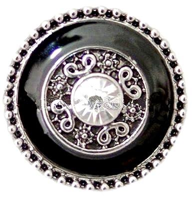 Silver Rhinestone 18mm 20mm Snap Charm Bracelet For Ginger Snaps Magnolia Vine
