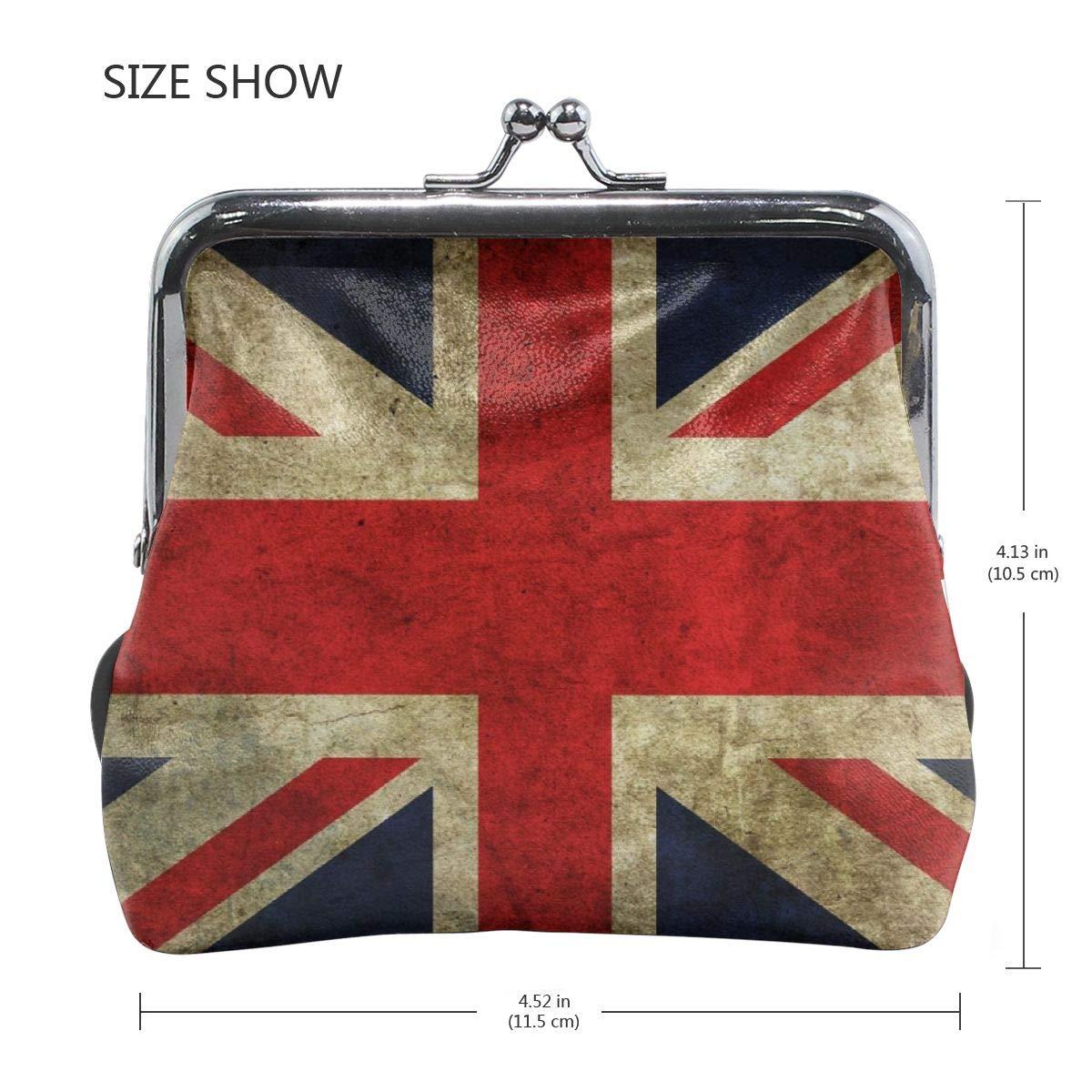 Eunice Jackson Womens The Retro English Flag Flat Wallet Style Purse Leather Coin Handbag