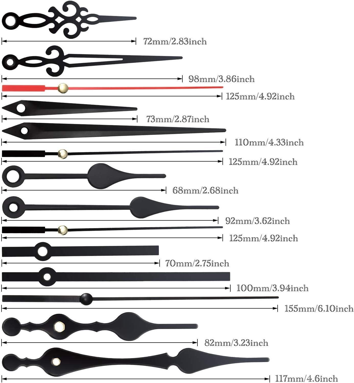 Sweetone Kit de 3 pi/èces /à couple /élev/é avec m/écanisme de mouvement /à quartz pour horloge avec 5 paires de ressorts dhorloge et pi/èces de r/éparation