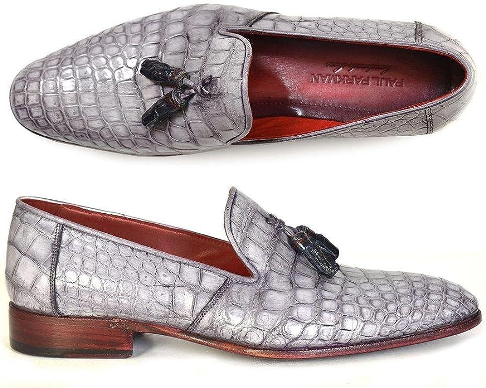 Men/'s Bordeaux Tassel Loafer Shoes in Genuine Leather
