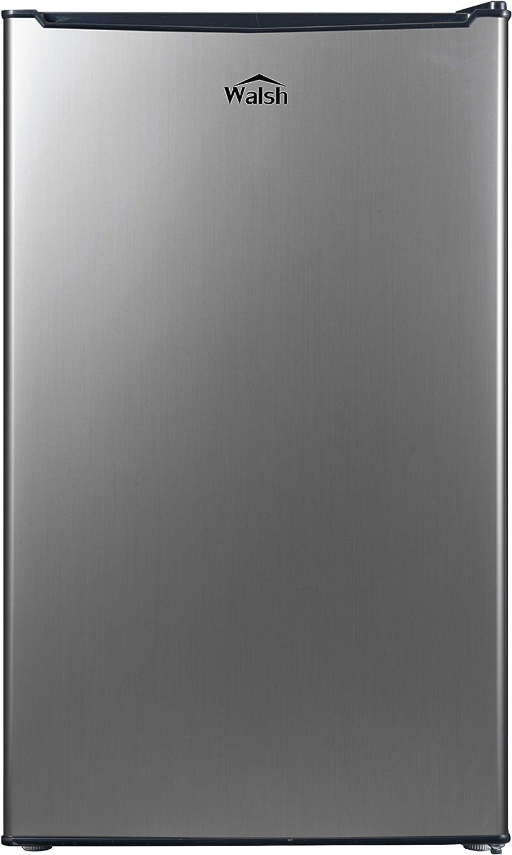 Walsh WSR35S1 Compact Refrigerator, Single Door Fridge, Adjustable Mechanical Thermostat with Chiller, Reversible Doors