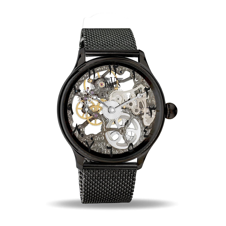 9853f8e6b75d Davis Reloj Esqueleto para Unisex Adultos de Mecánico con Correa en Acero  Inoxidable 0899MB East  Amazon.es  Relojes