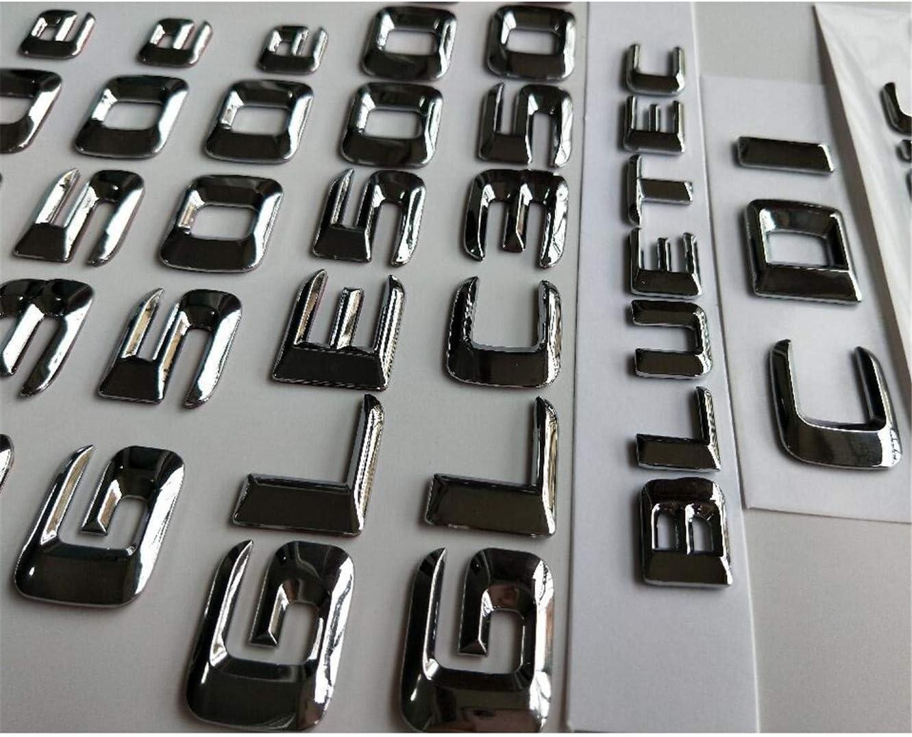 4MATIC Chrome Letters Emblems Badges GLA220d GLC220d GLC250d GLE350d GLE250d GLS350d 4MATIC CDI CGI HYBRID BLUETEC