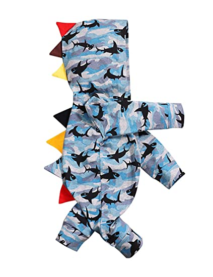 71216f4d8584 Baby Boy Clothes Newborn Zipper Jumpsuit Cute Hoodie Navy Cartoon Shark  Romper Toddler Playsuit(0