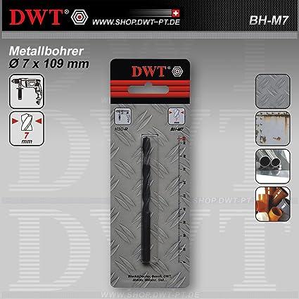 DWT metal Broca para taladro – BH 7 x 109 mm de diámetro M7