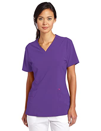 1c2ab4fca5e Smitten Women's Rock Goddess V-Neck Scrub Top, African Violet, XX-Small