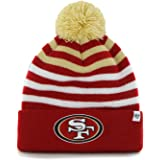 0d910308d093 '47 Brand Yipes Youth Beanie Hat POM POM - NFL Kids Cuffed Winter Toque Knit.  '