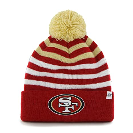 YOUTH San Francisco 49ers Red Cuff  quot Yipes quot  Beanie Hat with Pom -  NFL e014d302d56