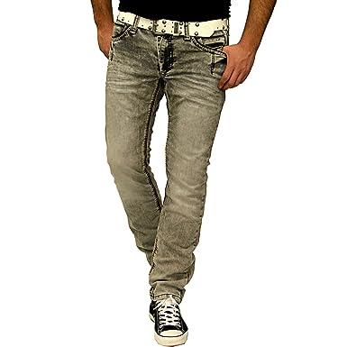schnüren in Großhandelsverkauf begehrteste Mode HERREN JEANS HOSE HELL Grau GRÖßE 29 30 31 32 33 34 36 38 40 ...