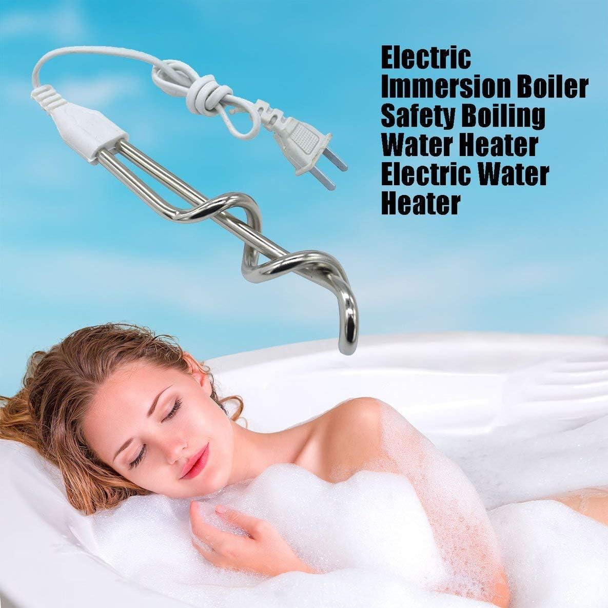 Monlladek Elektrischer Tauchsieder Sicherheit Kochender Warmwasserbereiter Elektrischer Warmwasserbereiter Schnelle Heizung Brennendes Bad Hei/ßwasserbereiter