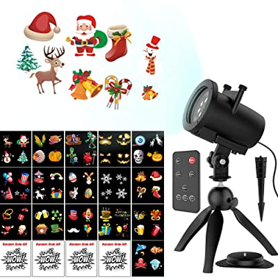 Halloween Christmas Projector Lights, Upgraded 16+4 Slides