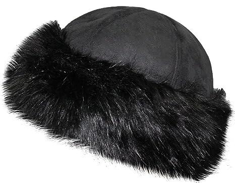 21eff9d0367 VIZ-UK WEAR Ladies Round Faux Fur   Suede Winter Hat - Adjustable - ONE