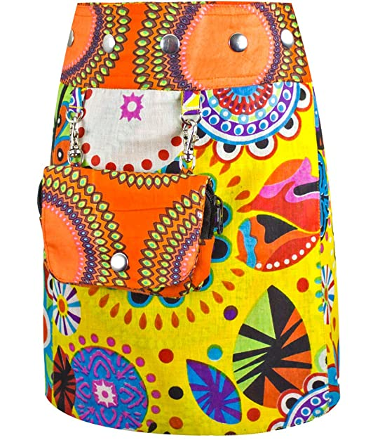 Sunsa - Falda - para niña Naranja Blanco Talla única: Amazon.es ...
