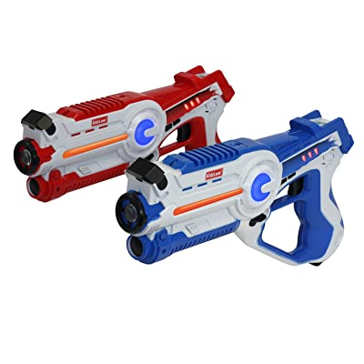 Kidzlane Infrared Laser Tag Game - Set of 2 Blue/Red - Infrared Laser Gun Indoor and Outdoor Activity. Infrared 0.9mW: Toys & Games