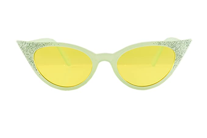 Glitter Slim A091 High Pointed Vintage Cat Sunglasses Retro Fbl Eye Fairy Nm08nvOw