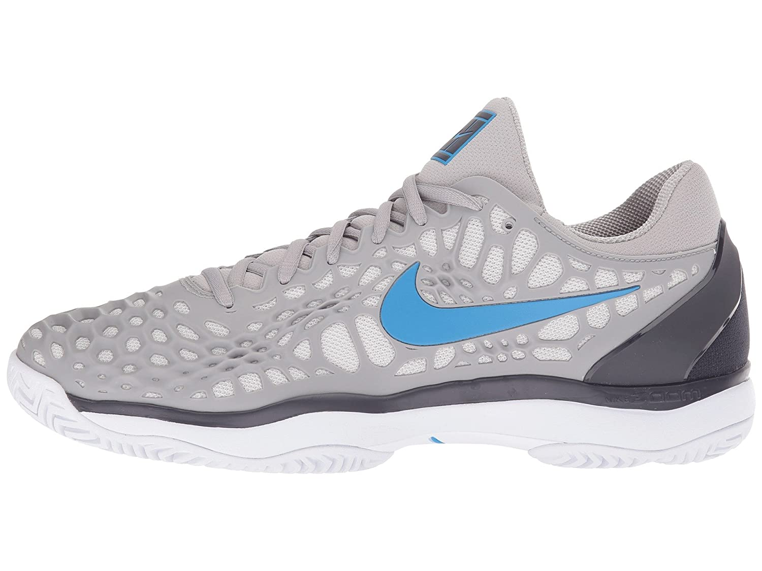 Nike Mens Zoom Cage 3 Tennis Shoes B078B1CF7Y 11.5 D(M) US|Atmosphere Grey/Photo Blue-gridiron