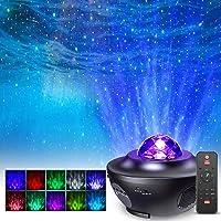 LED Star Light Projector, FOCHEA LED Star Projector Lights Ocean Wave Projector Nachtlampje met Afstandsbediening Timer…