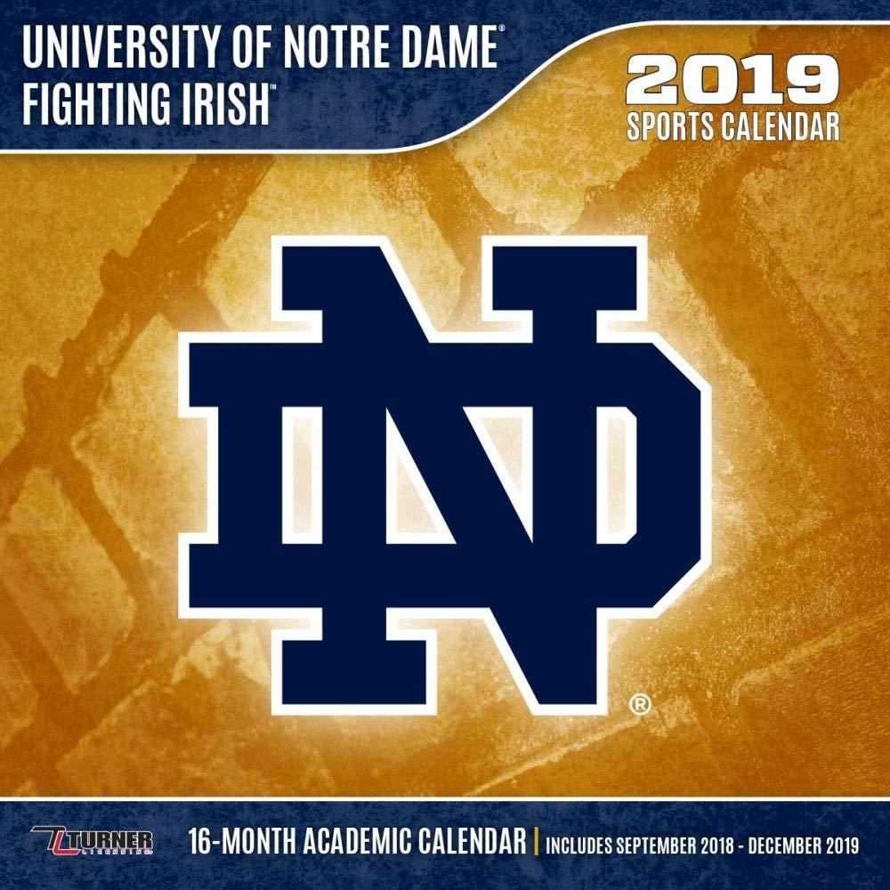 Notre Dame 2019 Academic Calendar Amazon.com: 2019 Notre Dame Fighting Irish 2019 Mini Wall Calendar
