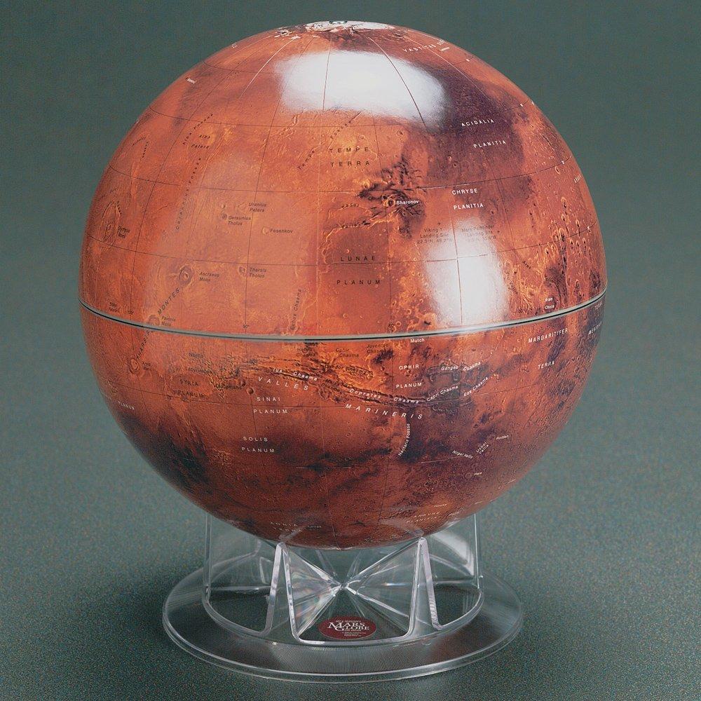 S&T 12'' Mars Globe on Acrylic Stand
