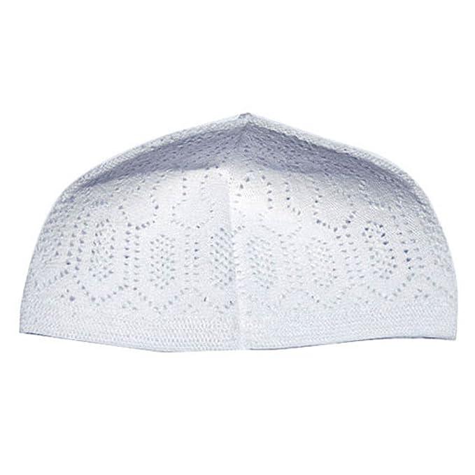 a75eb58a5 White One-size Turkish Muslim Islamic Kufi Hat Taqiya Takke Peci Skull Cap