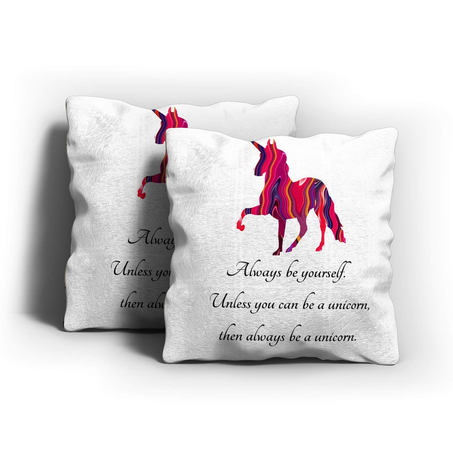 Sokiiy Unicorn with Cute Saying on It Romantic Hidden Zipper Home Sofa Decorative Throw Pillow Cover Cushion Case Square 18x18 Inch Two Sides Design ...