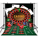 5X7FT Las Vegas Poker Red Carpet Cars Background Computer Printed Royal Casino Backdrop MR-2036