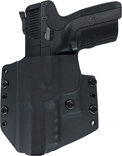 Amazon Com Watchdog Tactical Fn 5 7 Five Seven Holster Left Handed Black Owb Iwb Sports Outdoors