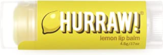 product image for Hurraw! Lemon Lip Balm, 4.8g/.17oz: Organic, Certified Vegan, Cruelty and Gluten Free. Non-GMO, 100% Natural Ingredients. Bee, Shea, Soy and Palm Free. Made in USA