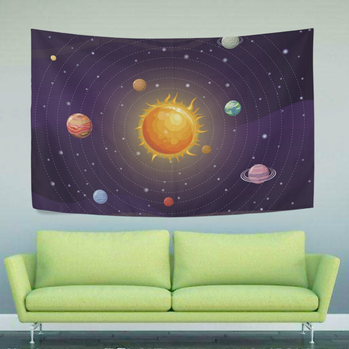 WIHVE Tapestry Space Solar System Tapestry Wall Hanging Home Decor for Living Room Bedroom Dorm Room 60 x 51 Inches