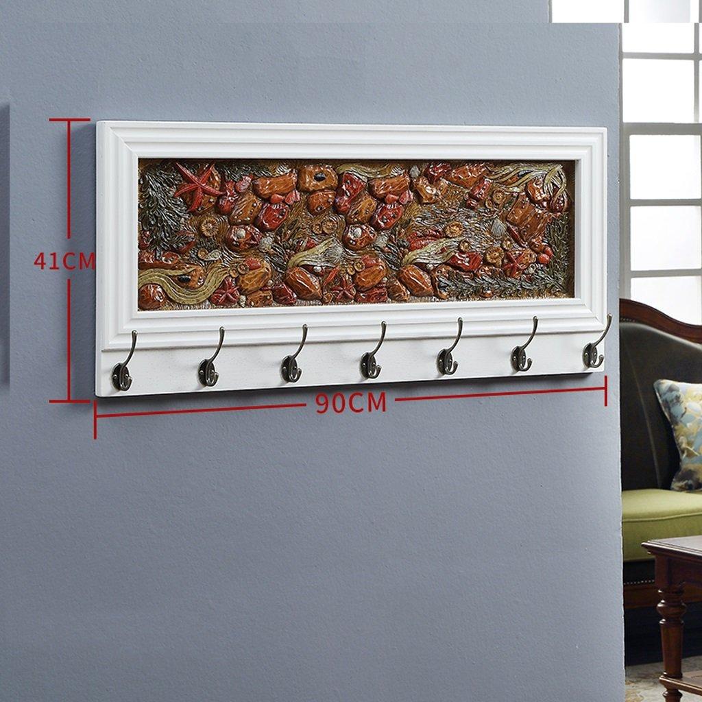 CJH Portal de Alivio Creativo de Madera S/ólida Sala de estar Perchas de Dormitorio Perchas de Pared Perchero de Pared Color : Walnut color