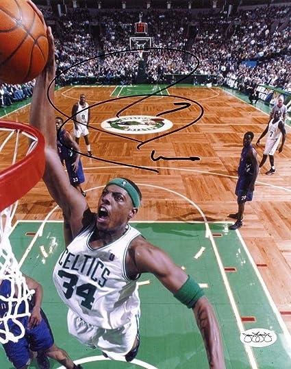 8c9602cc8 Paul Pierce Autographed Signed Boston Celtics 8x10 Color NBA Action Photo  JSA Authenticated