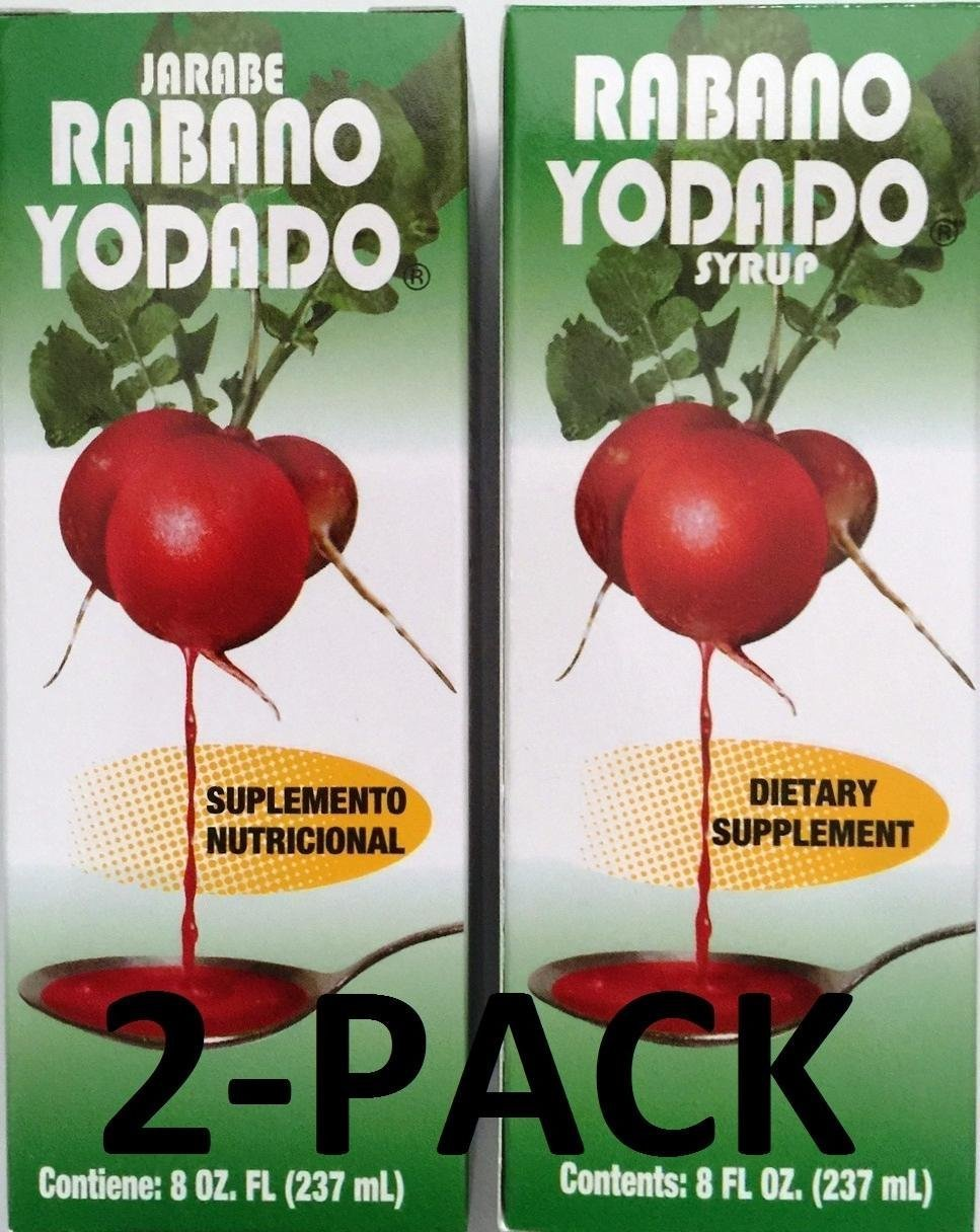 Rabano Yodado 8 Oz. Jarabe - Syrup 2-PACK