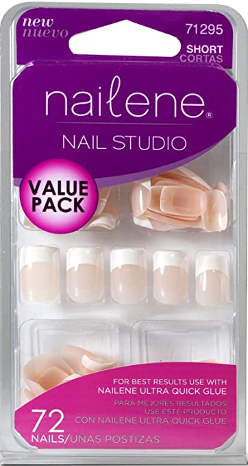 Amazon.com : Nailene Nail Studio Value Pack Nails - French (Short) 71295 : Beauty