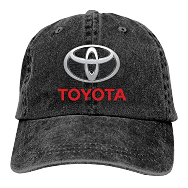 4445370e029 Image Unavailable. Image not available for. Color  Unisex Toyota Emblem Car  Logo Cap Vintage Washed Cowboy Hat Adjustable ...
