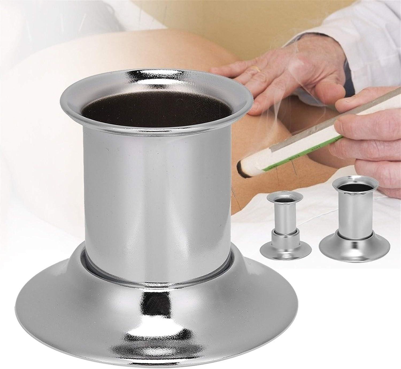 Moxa Sin Humo Acero inoxidable Moxa Extintor rodillo rodillo de la barra moxibusti/ón aparato de masaje caja sin humo Artemisia sin humo Color : 2cm
