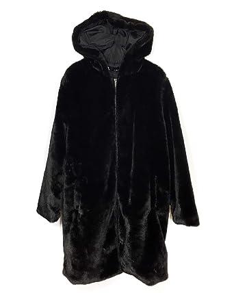 577fca887e32 Zara Women s Faux Fur Coat 6318 021 Black  Amazon.co.uk  Clothing