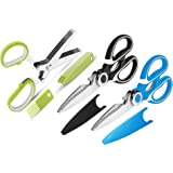 Kitchen Shears and Herb Scissors Set, 3-Pack Premium Heavy Duty Shears Ultra Sharp Stainless Steel Multi-function Kitchen Sci